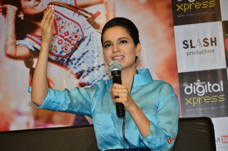 Kangana Ranaut Addresses The Media At Reliance Digital Express Store, Prabhadevi, Mumbai During The Promotion Of Queen