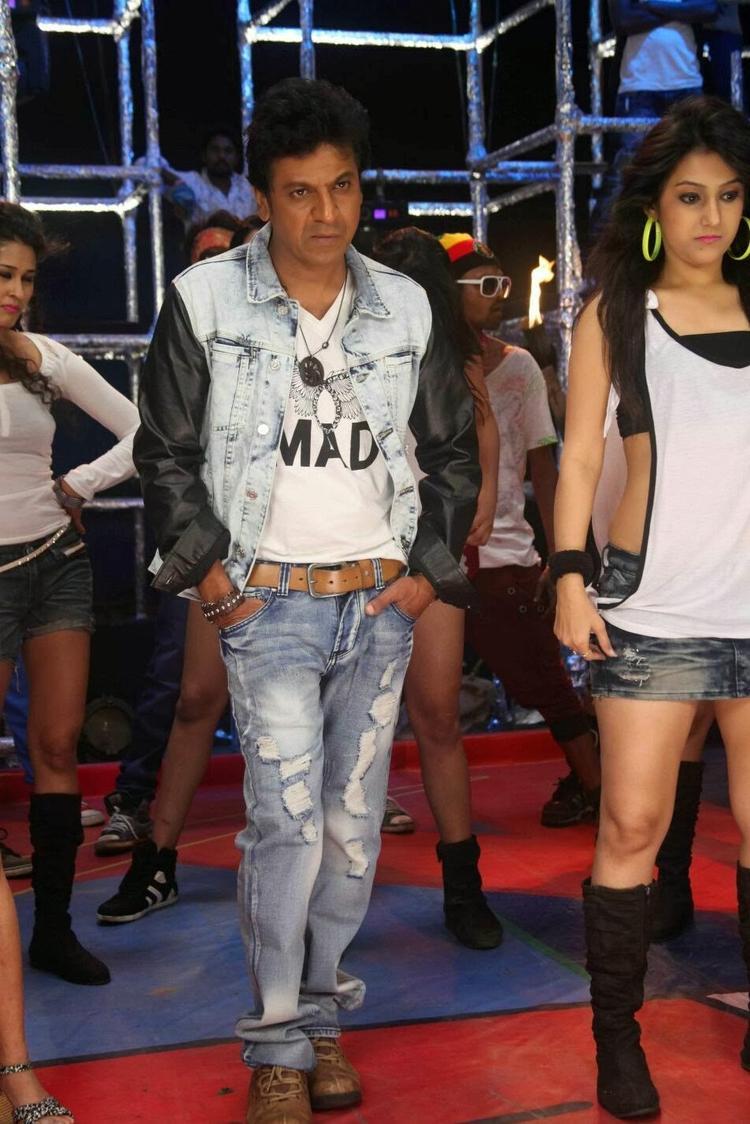 Shivaraj Kumar Dashing Look Still From Shivaraj Kumar's Aryan Kannada Movie