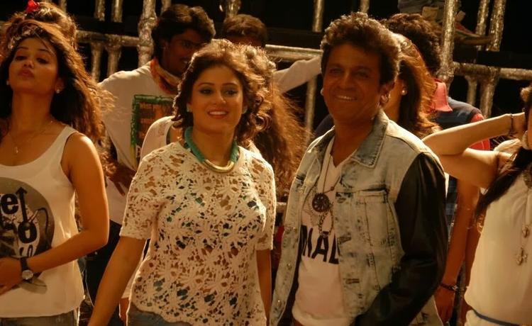 Shivaraj Kumar Smiling Look Still From Shivaraj Kumar's Aryan Kannada Movie