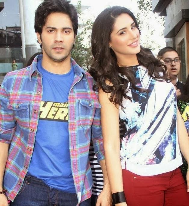 Varun Dhawan And Nargis Fakhri Dazzling Look During The Promotion Of Main Tera Hero At Mithibai College