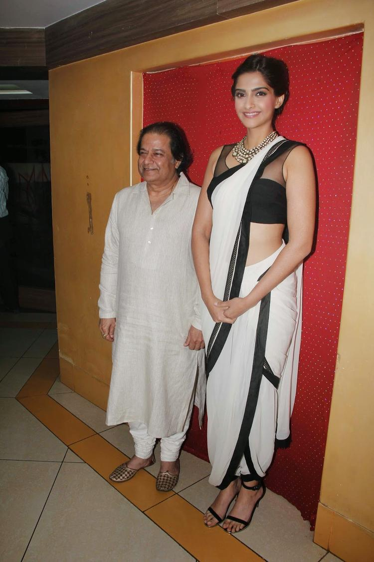 Anup Jalota And Sonam Kapoor Clicked During The Launch Of Kuch Dil Ne Kaha Ghazal Album