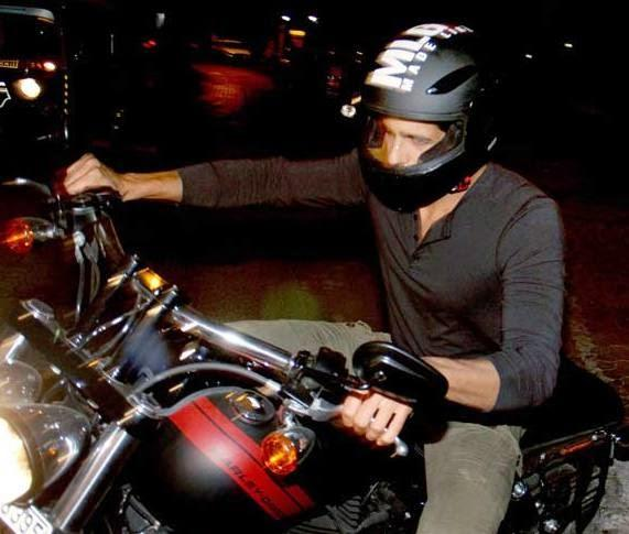 Sidharth Malhotra With Bike Nice Look At Outside Of Karan Johar's House