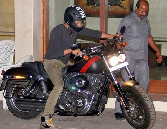 Sidharth Malhotra On A Bike Spotted At Outside Of Karan Johar's House