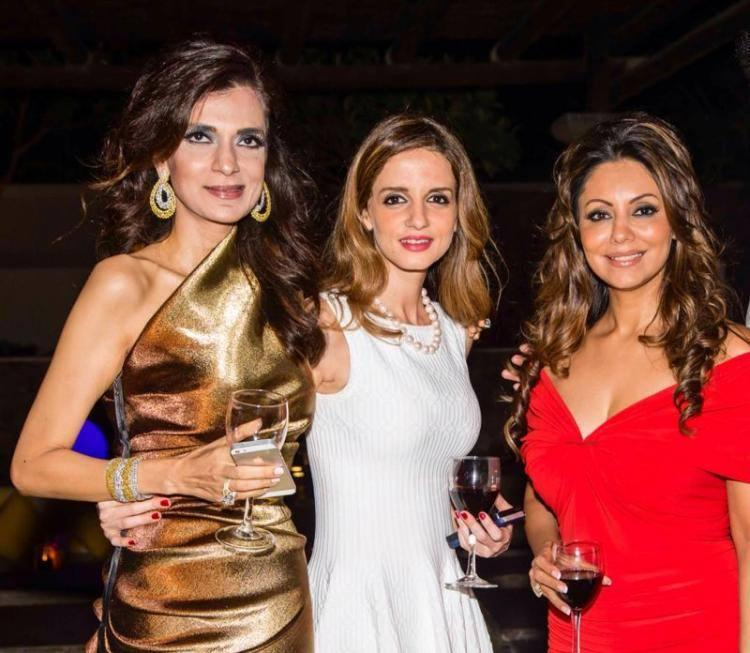 Gauri Khan And Suzanne With Wine At Their Project's Launch Party In Dubai