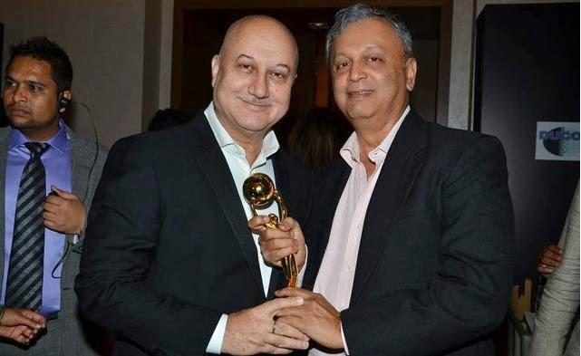 Anupam Kher Smiling Pose At The First Edition Of Times Now ICICI Bank NRI Of The Year Awards 2014 Ceremony