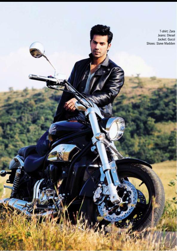 Varun Dhawan Dashing Look With Bike Shoot For Filmfare Magazine March 2014 Issue