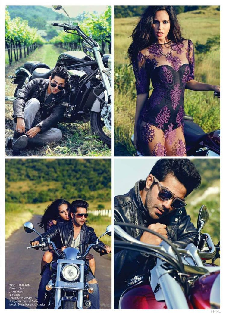 Varun Dhawan Different Pose Photo Shoot For Filmfare Magazine March 2014 Issue