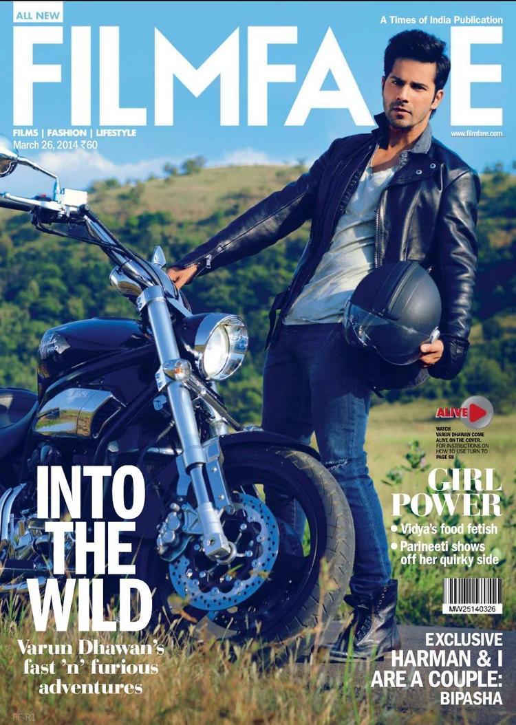 Varun Dhawan Fabulous Look Shoot For Filmfare Magazine March 2014 Issue