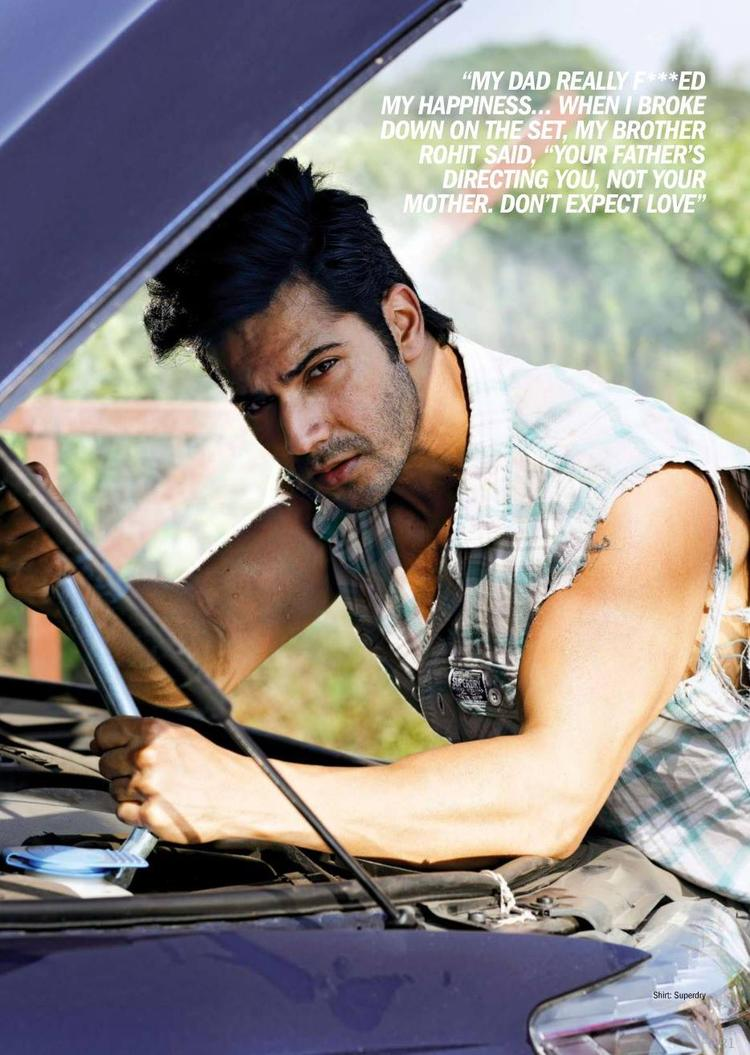 Varun Dhawan Young Hot Sexy Look Shoot For Filmfare Magazine March 2014 Issue