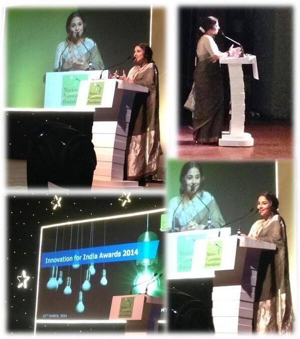 Vidya Balan Addresses The Media At The Innovation For India Awards 2014
