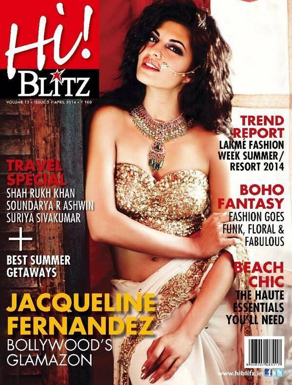 Jacqueline Fernandez Sexy Look On The Cover Of Hi! Blitz April 2014 Issue