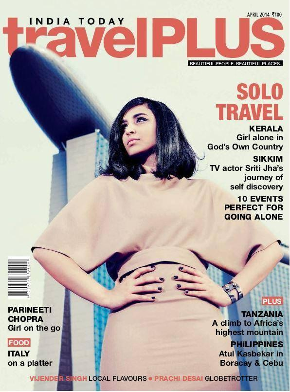 Parineeti Chopra Radiant Cool Look On The Cover Of travelPlus April 2014 Issue