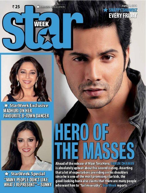 Varun Dhawan Handsome Look On The Cover Of Star Week April 2014 Issue
