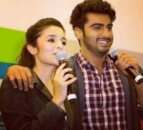 Alia Bhatt And Arjun Kapoor Address The Media During The Promotion Of  2 States At London