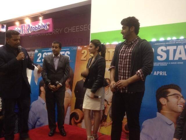 Alia Bhatt And Arjun Kapoor At London For Promoting 2 States Movie