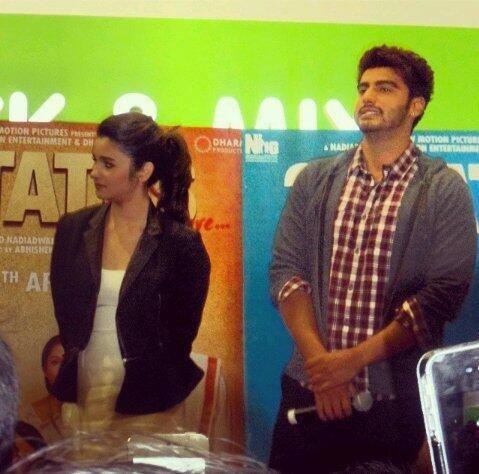 Alia Bhatt And Arjun Kapoor Promote Their Upcoming Flick 2 States At London