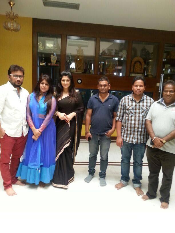 Radhika Kumaraswamy And Crew Members Posed For The Next Project Rudra Thandava