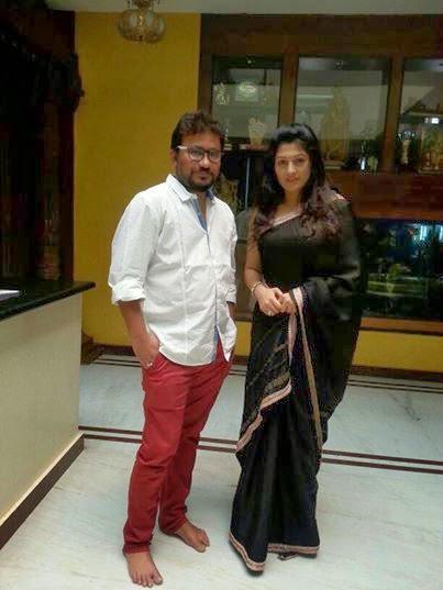 Radhika Kumaraswamy Photo Shoot In Black Saree To Her Next Project Rudra Thandava