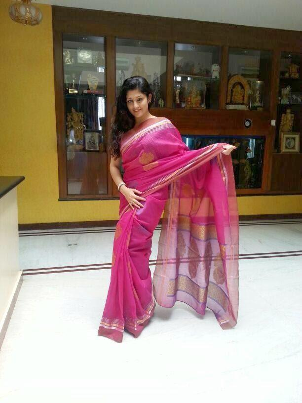 Radhika Kumaraswamy Strikes A Cool Pose In Saree To Her Next Project Rudra Thandava
