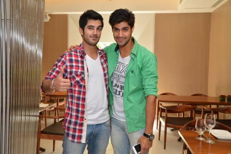 Handsome Stars Aditya And Tanuj Pose For Camera In Suburban Hotel