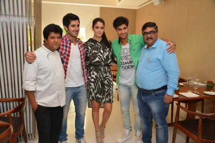 Purani Jeans Stars Latest Still In Suburban Hotel During Their Lunch Party
