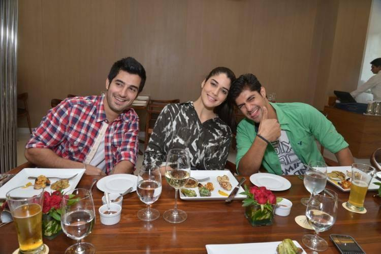 Purani Jeans Stars Strikes A Fun Pose During Their Lunch Party At Suburban Hotel