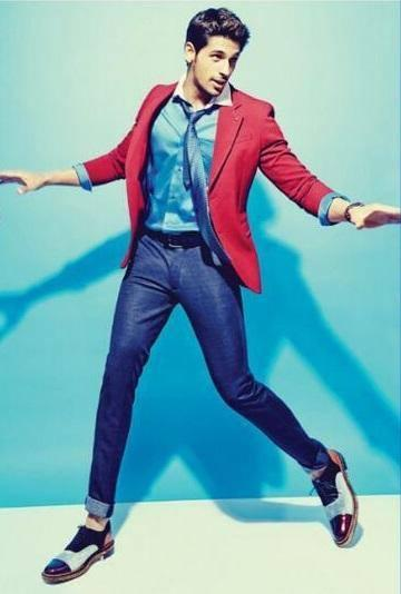 Sidharth Malhotra Dappers Cool Look Photo Shoot For Men's Health Magazine April 2014 Issue