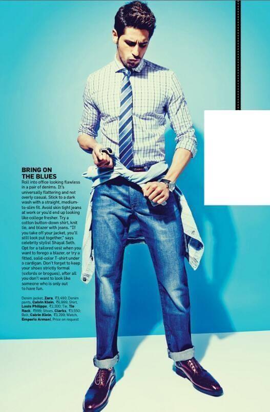 Sidharth Malhotra Stylish Pose Shoot For Men's Health Magazine April 2014 Issue