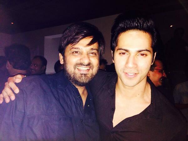 Wajid Ali And Varun Dhawan Posed For Lenses During The Success Party Of Main Tera Hero