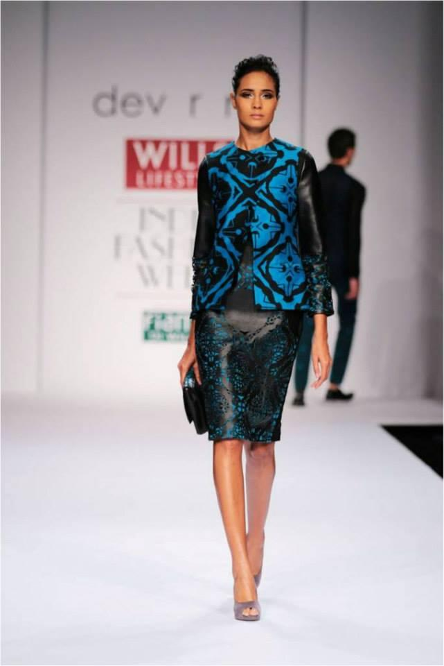 A Model Walks On Ramp At Wills Lifestyle India Fashion Week On Day 3