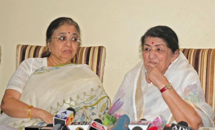 Lata Mangeshkar Pic During Announces For The Deenanath Mangeshkar Award