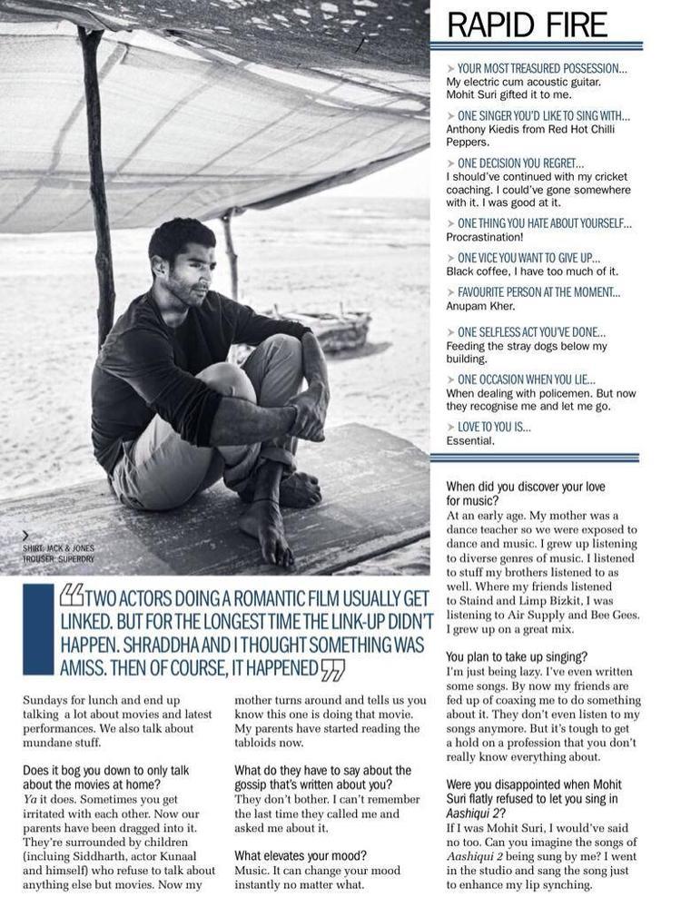 Aditya Roy Kapur Graced On Filmfare Magazine April 2014 Issue