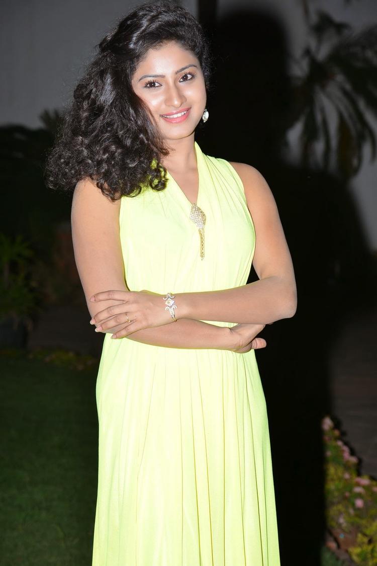 Vishnu Priya Charming Face Look During The Nenu Naa Friends Audio Launch Event
