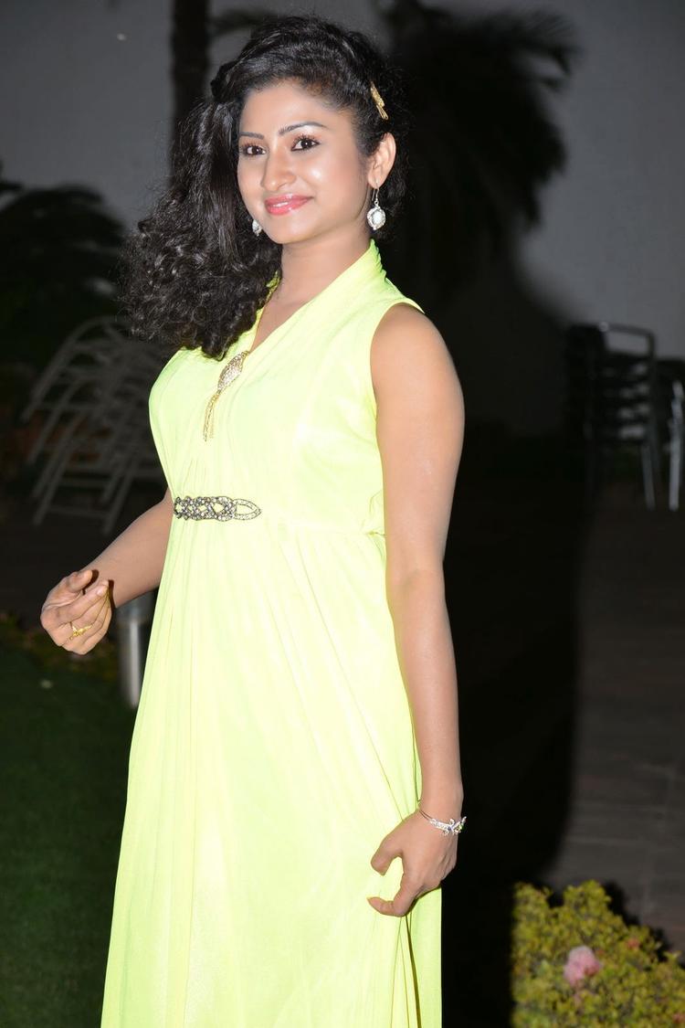 Vishnu Priya Glamour Look In Gown During The Nenu Naa Friends Audio Launch Event