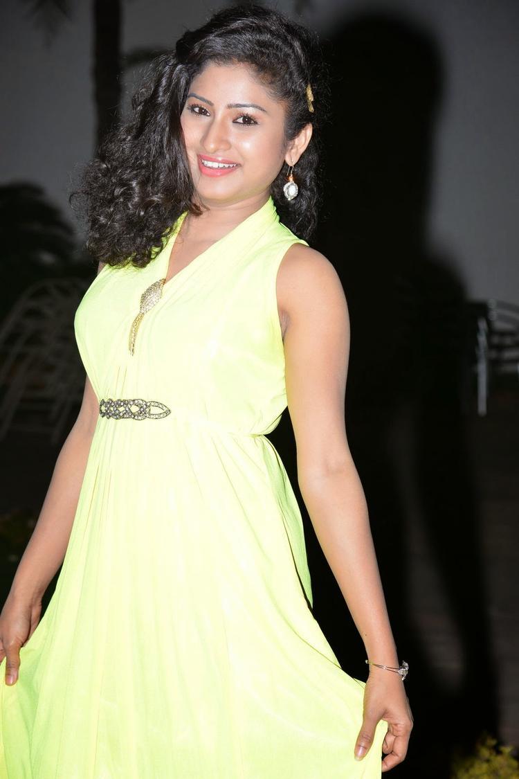 Vishnu Priya In Gown Trendy Look During The Nenu Naa Friends Audio Launch Event
