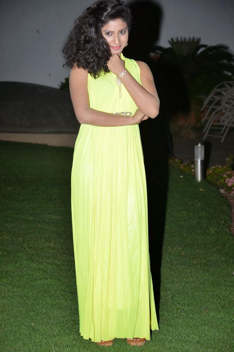 Vishnu Priya Nice Pose At Nenu Naa Friends Audio Launch Event