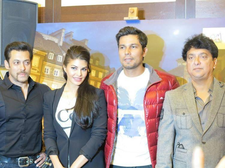 Team of Kick Pose For Photo Shoot At Press Conference Of Kick In Poland