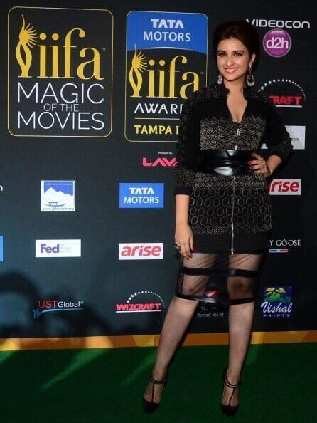 Parineeti Chopra Strikes A Pose On Green Carpet At The IIFA Magic Of Movies Event