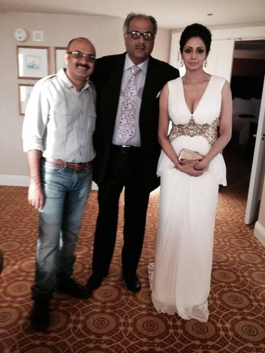Sridevi Photo Shoot With Hubby Boney Kapoor At The IIFA Magic Of The Movies Event