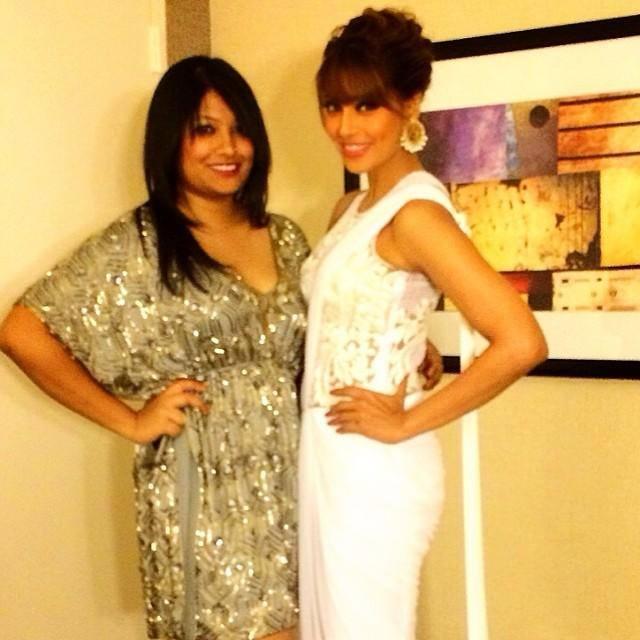 Bipasha Basu Posed With A Friend  At IIFA Magic Of The Movies Awards Function