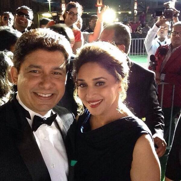 Madhuri Dixit And Sriram Nene Sweet Pose For Camera At IIFA Awards 2014