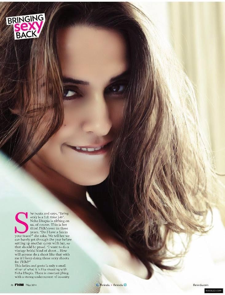 Bollywood Actress Neha Dhupia FHM India Cover Photo Shoot