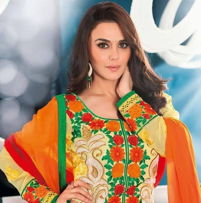 Preity Zinta Glamour Look Photo Shoot In New Salwar Kameez Collection
