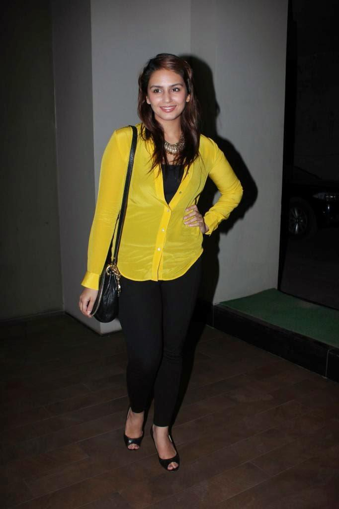 Huma Qureshi Snapped At The Special Screening Of The Film Hawaa Hawaai