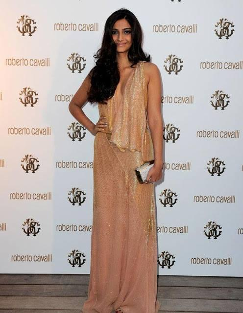 Sonam Kapoor Sexy Look In Roberto Cavalli Dress At During The Private Dinner At 64th Cannes Festival In 2011