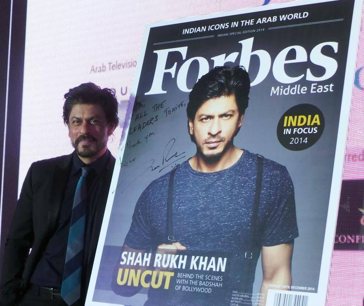 King Khan Unveils Middle-East Edition Of Forbes Magazine Featuring Him On The Cover Page