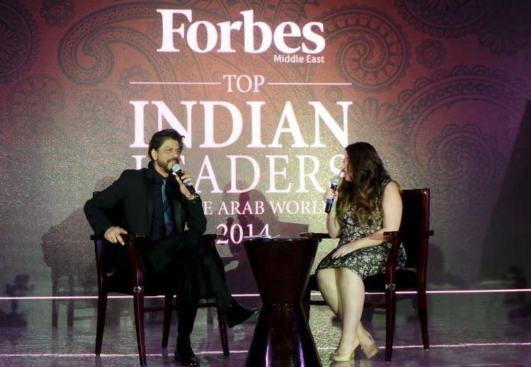 Shahrukh Khan Address The Media During The Launch Of Forbes Middle East Cover At Dubai