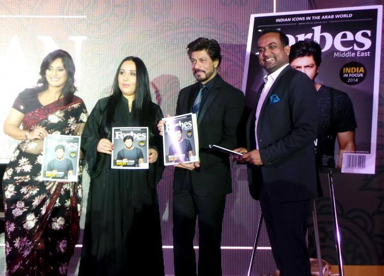 Shahrukh Khan Launched The Special Edition Of Forbes Middle East Cover
