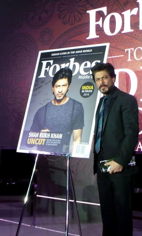 SRK Launches Forbes Middle-East As Its Cover Star At Dubai