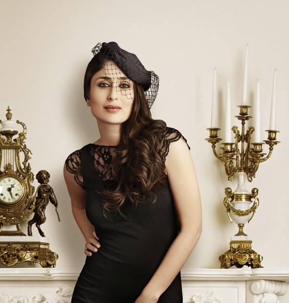 Kareena Kapoor Khan In Black Dress Trendy Hot Look Photo Shoot For Monarch 2014 Edition